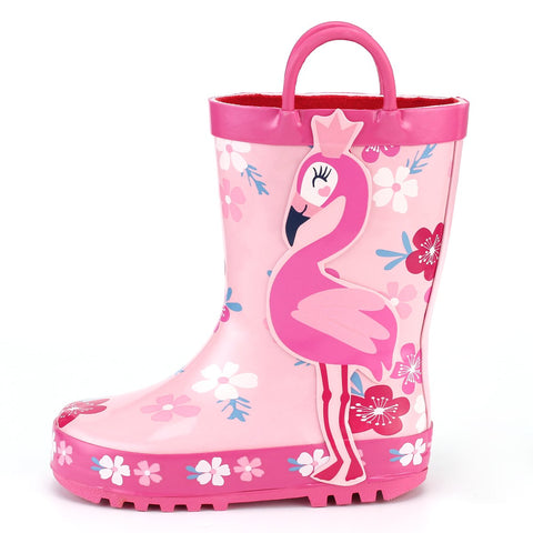Girls Flamingo Rain Boots - The Flamingo Shop
