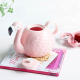 Flamingo Ceramic Teapot