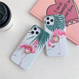 Flamingo Ring Holder Phone Case For iPhone 12 Pro 11 Pro Max XR XS Max X 7 8 Plus 12 Mini
