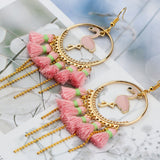 Pink Flamingo Tassel Earrings - The Flamingo Shop