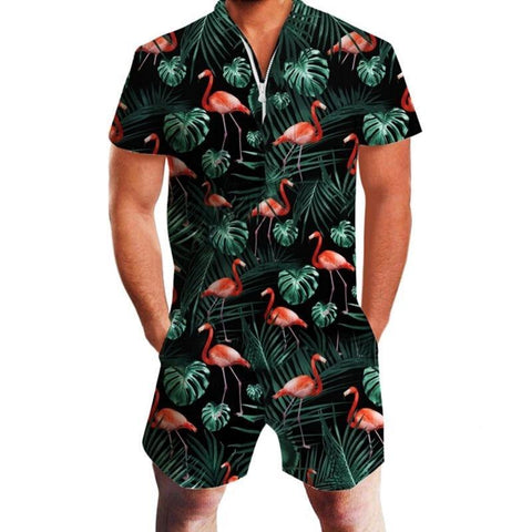 Flamingos Mens Romper OR Shorts - The Flamingo Shop