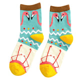 Womens Flamingo Cotton Socks - The Flamingo Shop