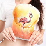 Stylish Gradient Flamingo Hand Painted Baseball Cap - The Flamingo Shop