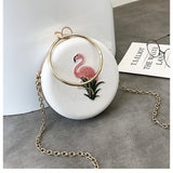Womens Evening Bag Mini Circle Purse - The Flamingo Shop