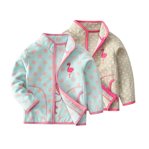 Baby Girls Zippered Jacket - The Flamingo Shop