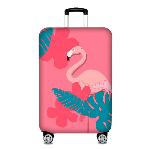 Elastic Flamingo Protective  Luggage Cover for 19''-32'' Suitcases - The Flamingo Shop