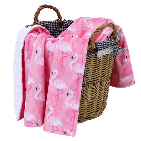 Luxury Soft Warm Winter Swaddle Baby Blanket - 2 Layered Flannel Blanket - The Flamingo Shop