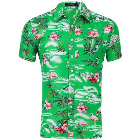 Mens Tropical Flamingo Hawaiian Shirt - The Flamingo Shop