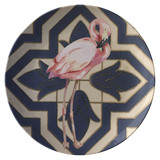 Spanish Tile Flamingo Dinner Plate