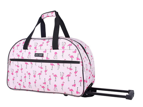 Betsey Johnson Flamingo Strut 22in. Duffel - The Flamingo Shop