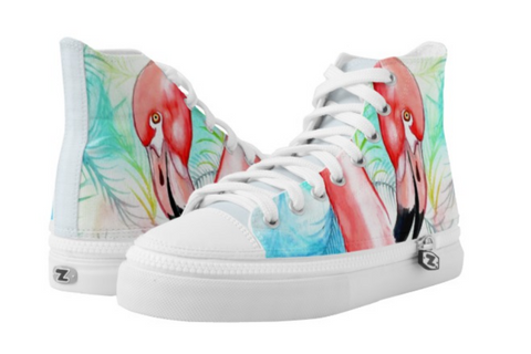 Flamazing Flamingo Hi Tops - The Flamingo Shop