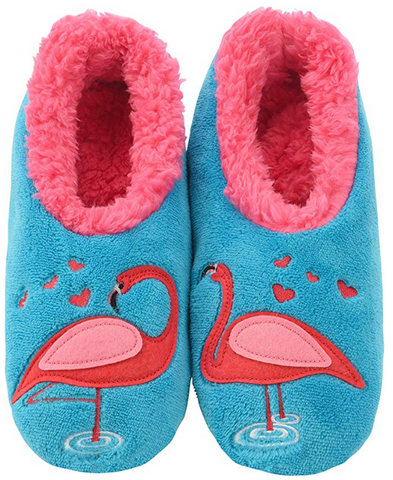 Flamingo Anti Skid Sherpa House Slipper Socks