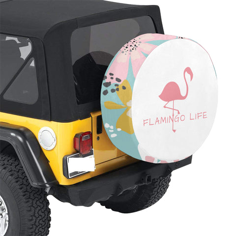 Flamingo Life Spare Tire Cover