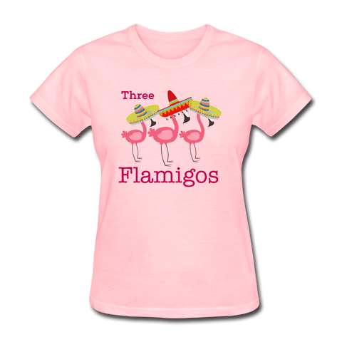 Three Flamigos Women's T-Shirt - pink