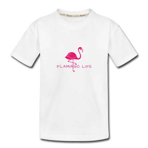 Flamingo Life Toddler T-Shirt - white
