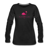 Flamingo Life Women's Long Sleeve T-Shirt - black
