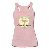 Flamingo Flock Star Women's Tri-Blend Racerback Tank - The Flamingo Shop