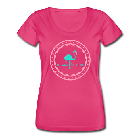 Flamingo Life Women's Scoop Neck T-Shirt - hot pink