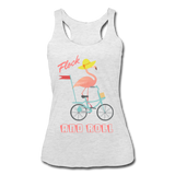 Flock and Roll Flamingo Women's Tri-Blend Racerback Tank in 5 Colors - The Flamingo Shop