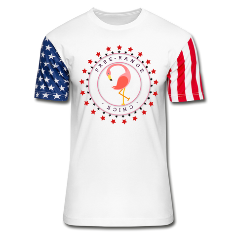 Free Range Chick Stars & Stripes T-Shirt - white
