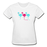 Flamingo Life Ultra Cotton Ladies T-Shirt - white