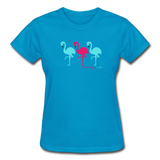 Flamingo Life Ultra Cotton Ladies T-Shirt - turquoise
