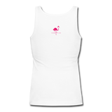 Women's Be YOU tiful Flamingo Life Tank - white