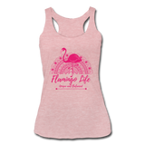 Flamingo Life Women's Tri-Blend Racerback Tank - heather dusty rose