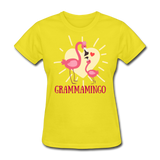 Grammamingo Flamingo Lover's Women's T-Shirt - yellow