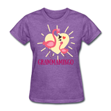 Grammamingo Flamingo Lover's Women's T-Shirt - purple heather