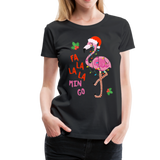 Fa La La La Mingo Flamingo Women's T-Shirt - black