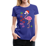 Fa La La La Mingo Flamingo Women's T-Shirt - royal blue