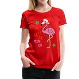 Fa La La La Mingo Flamingo Women's T-Shirt - red