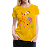 Fa La La La Mingo Flamingo Women's T-Shirt - sun yellow