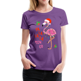 Fa La La La Mingo Flamingo Women's T-Shirt - purple