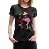 Fa La La La Mingo Flamingo Women's T-Shirt - charcoal gray