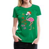 Fa La La La Mingo Flamingo Women's T-Shirt - kelly green