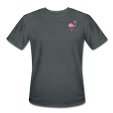 Flamingo Life Stay Salty Men's Moisture Wicking Performance T-Shirt - charcoal