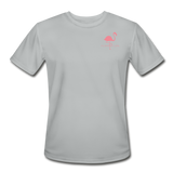 Flamingo Life Stay Salty Men's Moisture Wicking Performance T-Shirt - silver