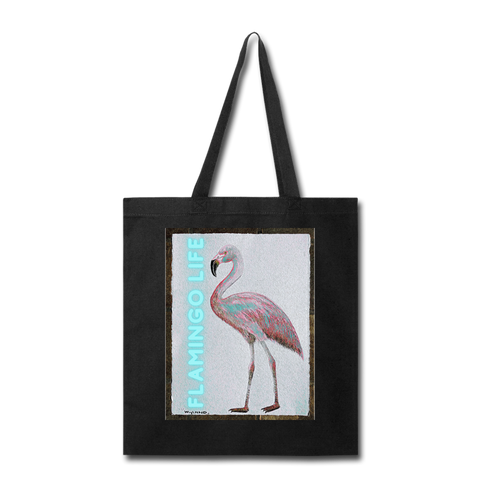 Flamingo Life® Wyland© Designed Tote Bag - black