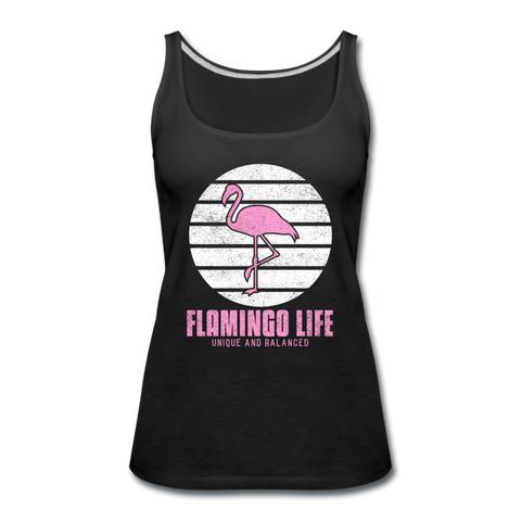 Flamingo Life® Shadow Women's Tank Top - black