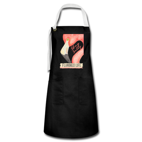 Flamingo Life® Stay Salty Artisan Apron - black/white