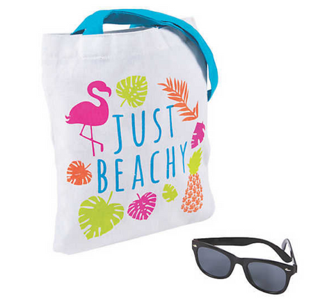 Just Beachy Flamingo Tote - The Flamingo Shop