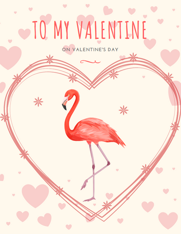 Flamingo Valentine's Day Card - The Flamingo Shop