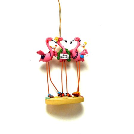 Girls Flock Together Pink Flamingos Ornament - The Flamingo Shop