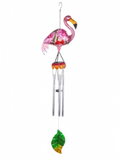 Solar Lighted Flamingo Wind Chime - The Flamingo Shop