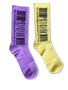 Purple and Yellow Tie-Dye Socks