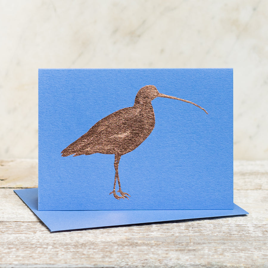 Copper Foil Curlew Greeting Card