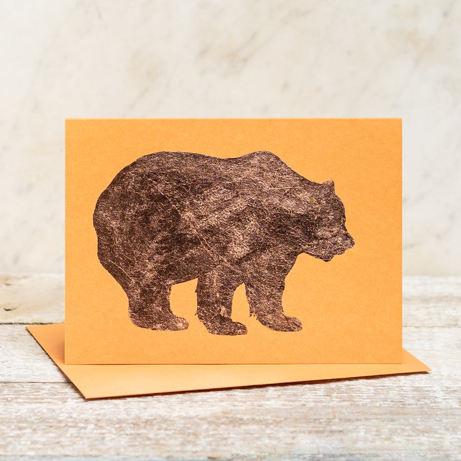 Copper Foil Bear Greeting Card