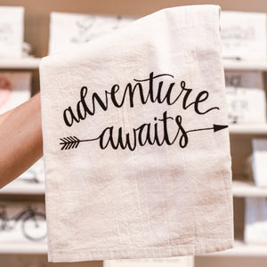 Adventure Awaits Cotton Tea Kitchen Towel